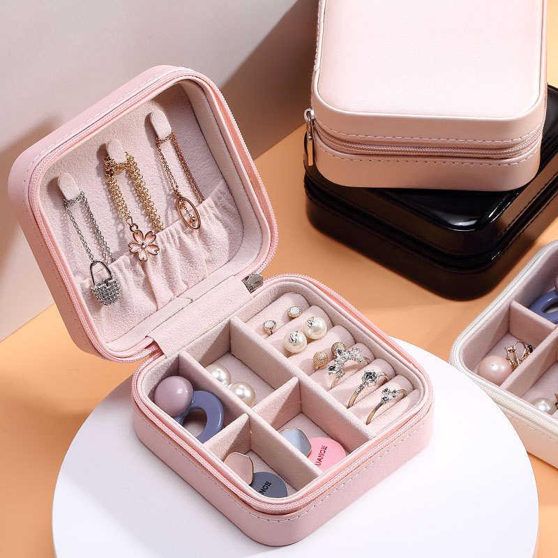 2020 Universele Sieraden Organizer Display Reizen Sieraden Dozen Draagbare Sieraden Doos Rits Lederen Opslag Rits Juweliers