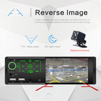 1din Car Radio 4.1 Bluetooth Stereo Multimedia player Autoradio MP5 Sd USB Touch Screen Auto Audio Support Rear Camera image