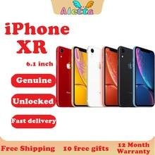 Entsperrt Original Apple iPhone XR 6,1 zoll Gesicht ID NFC RAM 3GB ROM 64GB/128GB/256GB Smartphone A11 Hexa-core Apple Zahlen Handy