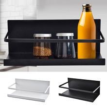 Многофункциональный магнитный подвесной стеллаж для хранения на холодильник, кухонный Домашний Органайзер