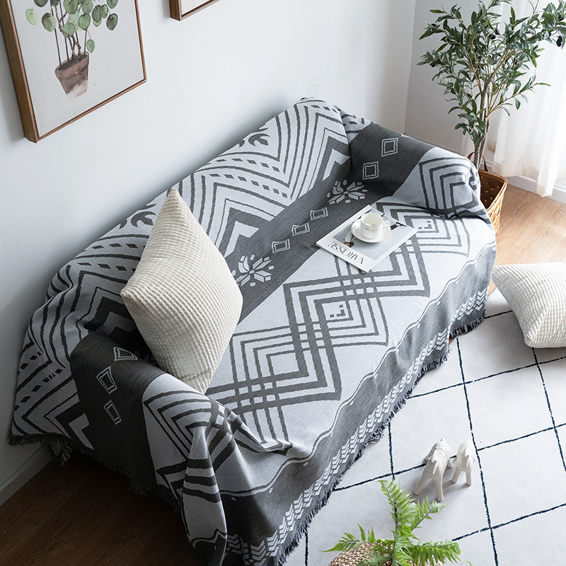 Decorative Woven Knitted Throw Blanket Couch Sofa Plaid Throws Blankets Nordic Bed Bedspread Tapestry Decor Living Room Home