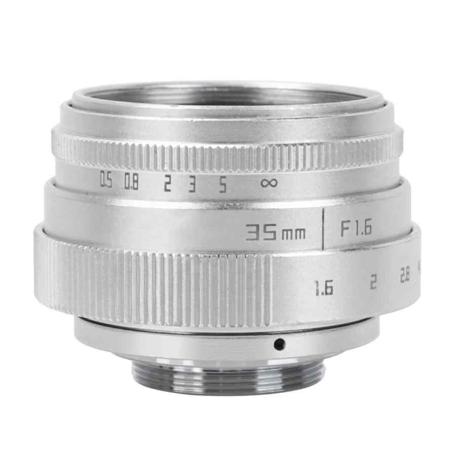 35mm F1.6 CCTV C montaje lente de gran apertura para Sony NEX para M4/3 para Fujifilm Fuji para Canon para cámara Nikon Universal 2 colores
