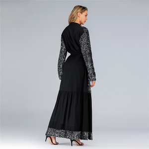 Image 3 - Рамадан Эйд Мубарак абайя кимоно женский кардиган хиджаб мусульманское платье Турецкий ислам одежда искусственная кафтан халат Дубай