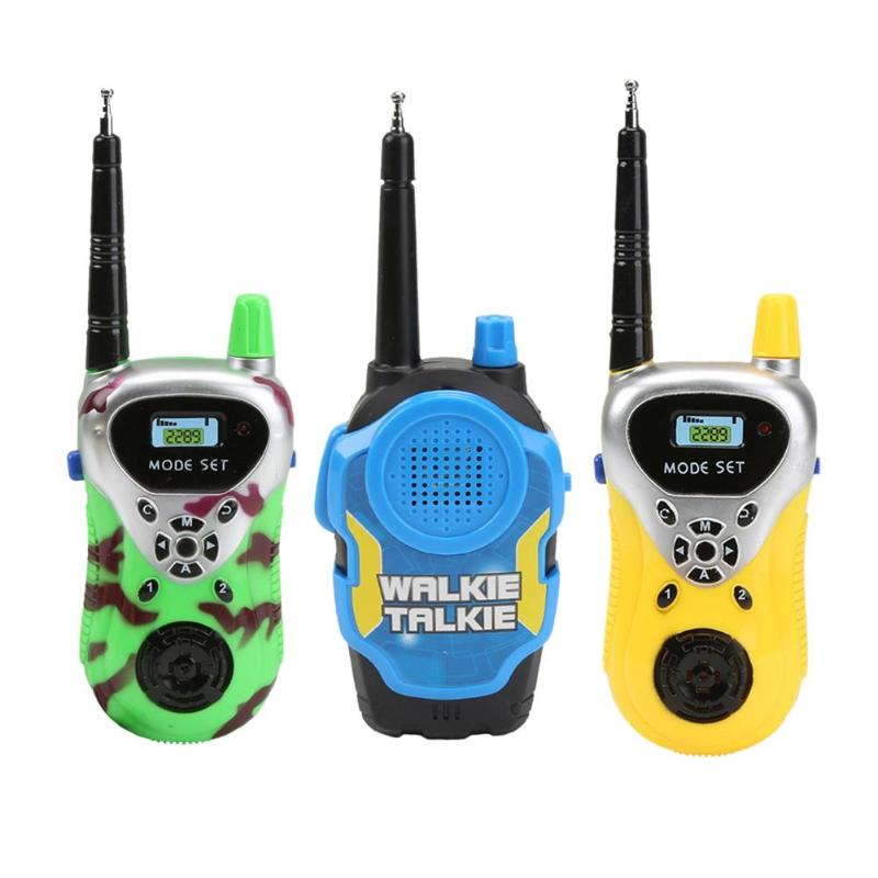 2pcs Electrical Safety Walkie Talkie Environmentally Protection ABS Plastic Toy Kid Children Interactive Parenting Game