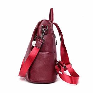 Image 3 - Роскошные дизайнерские женские рюкзаки 2019, рюкзаки для девочек, винтажный рюкзак, женский кожаный рюкзак, Женский Повседневный Рюкзак