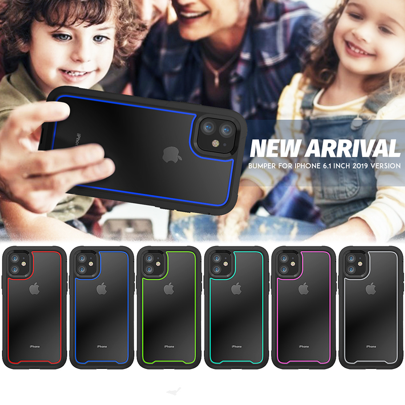 Shockproof Armor New Phone Case For iPhone 11 Transparent hybrid TPU Cover For iPhone XR XS Shockproof Armor New Phone Case For iPhone 11 Transparent hybrid TPU Cover For iPhone XR XS MAX 11 Pro Max XS 8 7Plus Clear Case