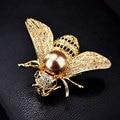 Известный бренд дизайн насекомых серии брошь для женщин нежные Маленькие броши в виде пчел с украшением в виде кристаллов Стразы булавка бр...