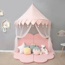 Скандинавская детская игровая палатка Розовая Принцесса игровой домик замок Типи Enfant Крытый детский балдахин для детской кроватки сетка кровать палатка Декор детской комнаты