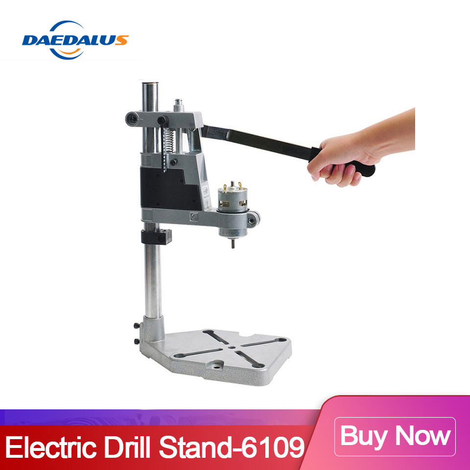 Drill Stand Aluminum Base Max 43mm Bench Chuck Drill Press Holder With 775 Spindle Motor For Power Tools Woodworking Machine