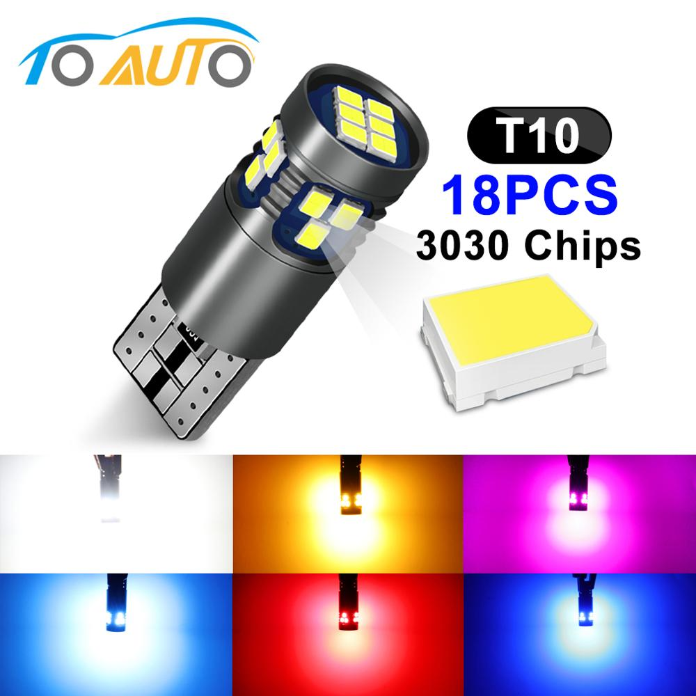 10 X Car Autos 12V T10 Wedge Side SMD W5W 3535 LED Bulbs 6000K Xenon White Lamps