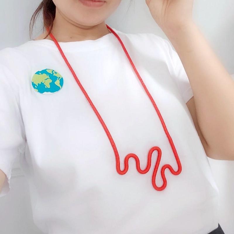 2020 популярное модное дизайнерское ожерелье из красной веревки с подвеской неправильной формы женская простая одежда ювелирные изделия для...