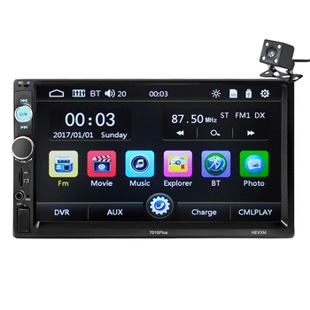 Upgraded High-Definition 7-Inch Screen Car MP5 Player Wireless Stereo FM Radio HD + 4 LED Camera