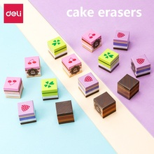 Erasers Kids Study Rubber Cake-Shaped Draw-Design Office School Cartoon Cute 4-Colors