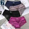 7Pcs Women's Pants exy Panties 2020 Women's Iace lingerie Solid Color Seamless briefs Mid-Rise Briefs Woman cotton underwear 1