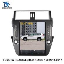 12.1 inch Tesla style Android 9.0 Car GPS Navigation For TOYOTA PRADO/LC150/PRADO 150 2014 2017 Auto Car radio multimedia player