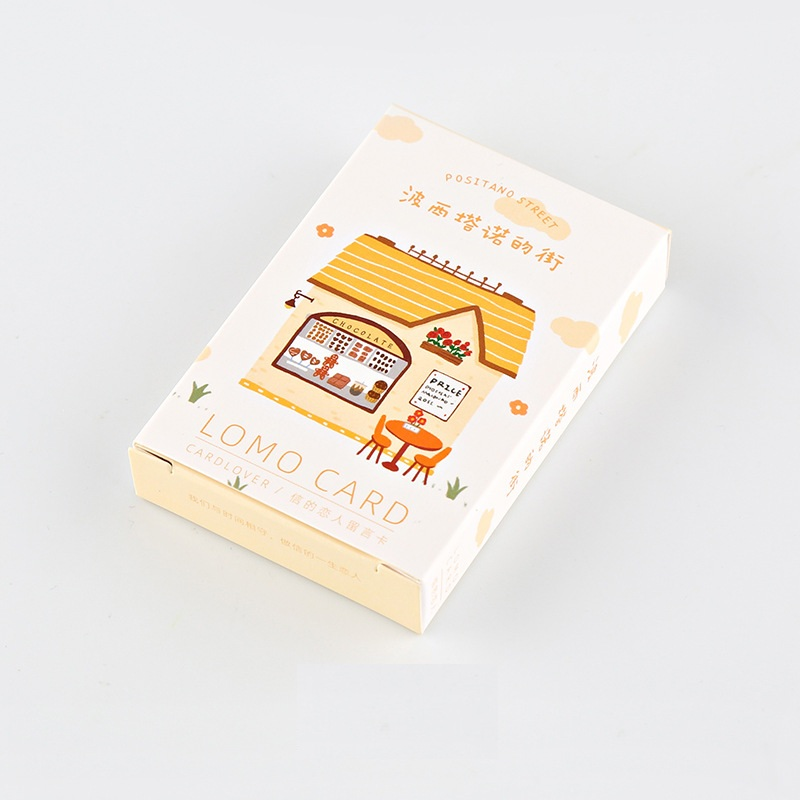 28 Sheets/Set 52*80mm Novelty Positano Street Lomo Card Mini Postcard Birthday Letter Gift Card Message Card