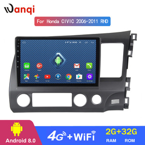 4G Lte All Netcom 10 inch Car Audio Radio Video Multimedia Player For Honda civic 2006-2011 RHD stereo gps navigation system