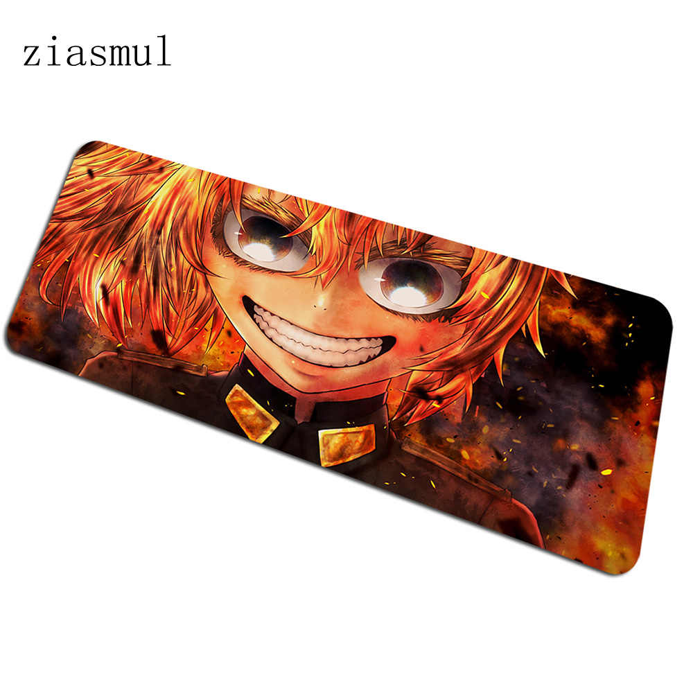 Youjo Senki mousepad gamer Rifle 900x400x3mm gaming mouse pad large Tanya notebook pc accessories laptop padmouse ergonomic mat
