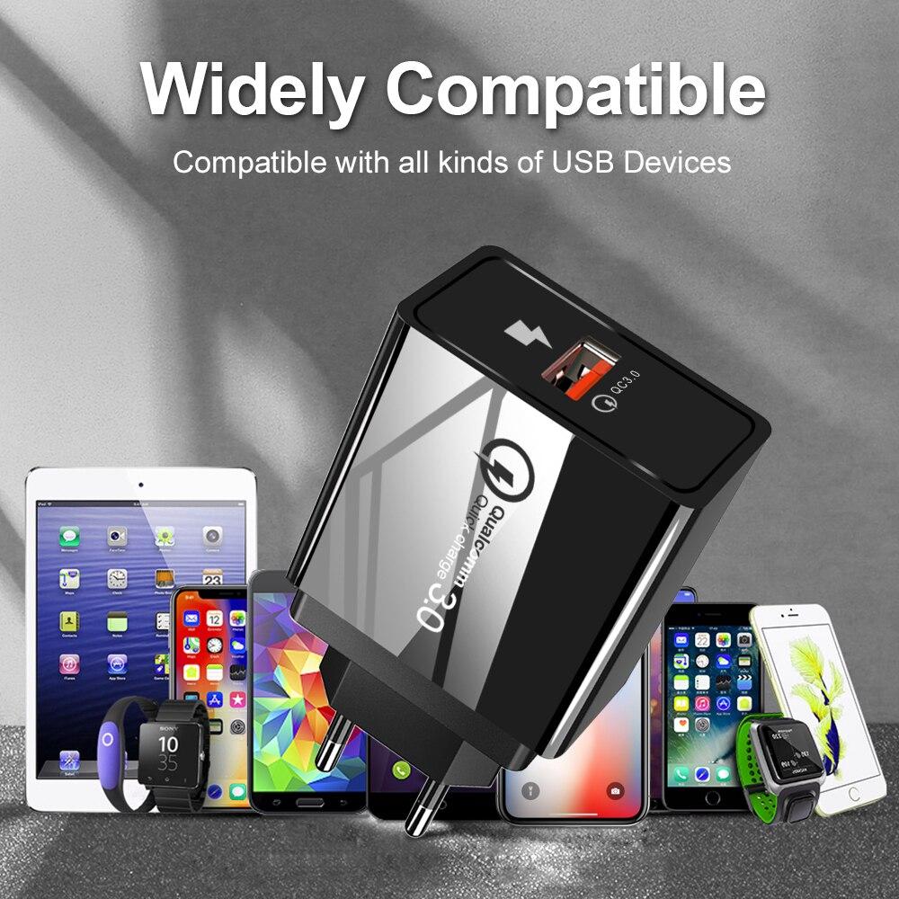 Image 5 - ROMICHW 3.0A Быстрая зарядка 3,0 быстрое зарядное устройство для iPhone X 8 samsung Xiaomi Redmi Note 7 Pro QC3.0 настенный адаптер для зарядки мобильного телефона-in Зарядные устройства from Мобильные телефоны и телекоммуникации on