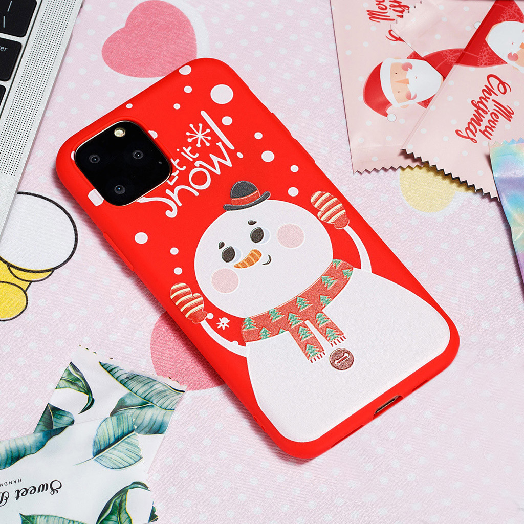 Christmas Holiday Snow Case Cover Fits For Iphone 11 Pro 5.8 Inch For Iphone 11 6.1 Inch For Iphone 11 Pro Max 6.5 Inch Gift (US STOCK)