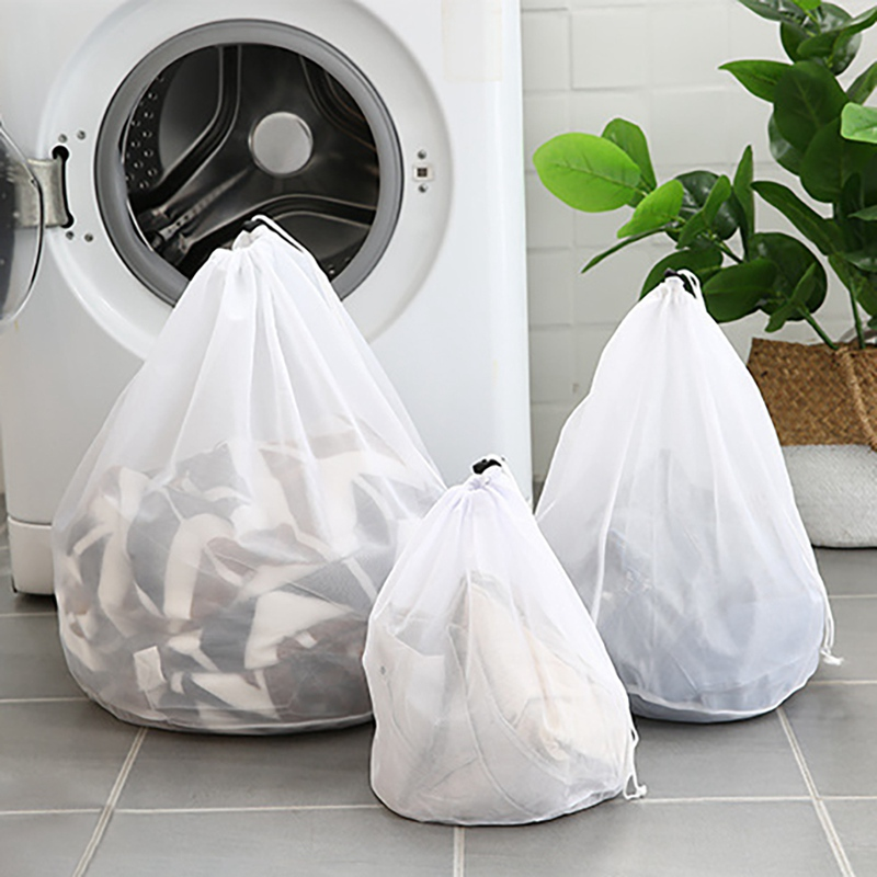 New Practical Large Washing Net Bags, Durable Fine Mesh Laundry Bag With Lockable Drawstring For Big Clothes #j