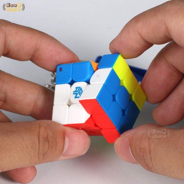 GAN330 Speed Cube 3x3x3 Keychain Cube 3x3 Cubo Magico 3x3x3 Magic Cubes GAN 330 Speedcube Cubeing Cuber Puzzle Toy 6