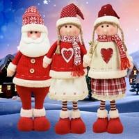 16 видов стилей 1/3 шт. большой Размеры Рождественские куклы Санта Клаус снеговик олень кукла украшения 2020 Новый год Рождественский подарок