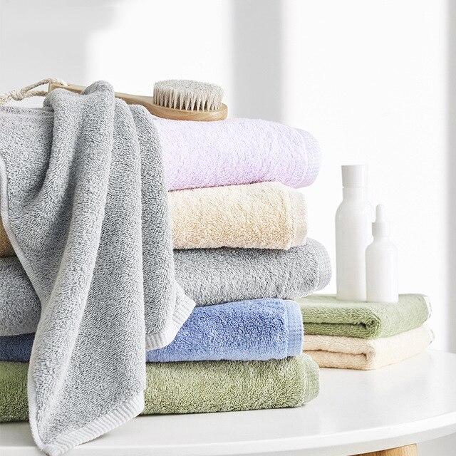Cotton Bath Towel 140*70cm 450g Large Size More Thicker Boutique Beach Towel Soft Skin-friendly Hotel Bath Towels Gift