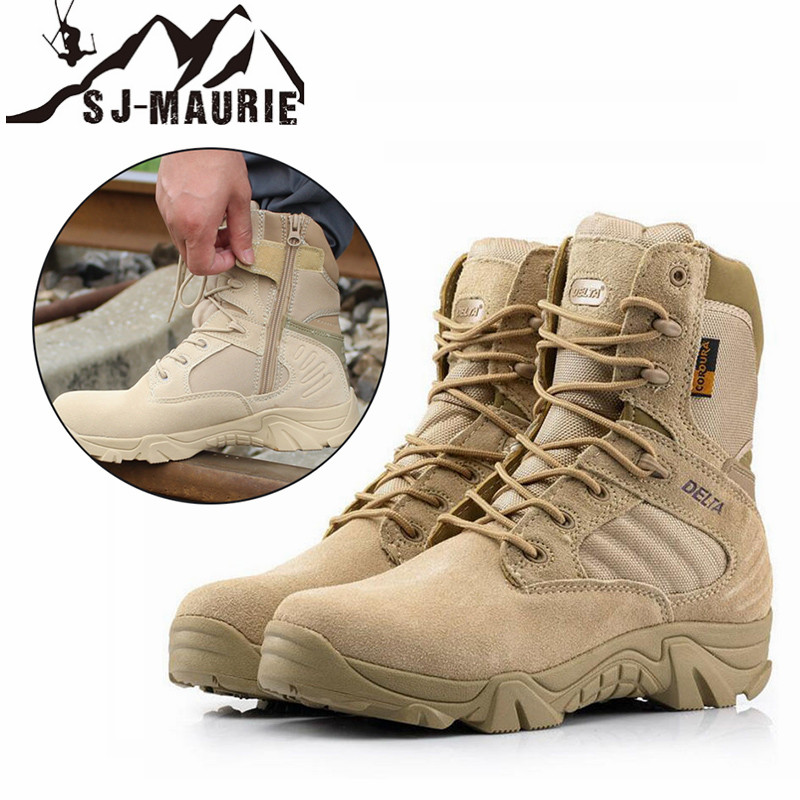 SJ-MAURIE Men Hiking Shoes Professional Waterproof Hiking Military Tactical Boots Mountain Climbing Outdoor Hunting Boots