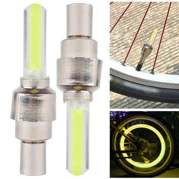 Bicycle Lights 2PCS Bike Bicycle Car Motor Wheel Cycling Tire Valve Cap LED Neon Flash Lamp Light Bicycle Accessories image