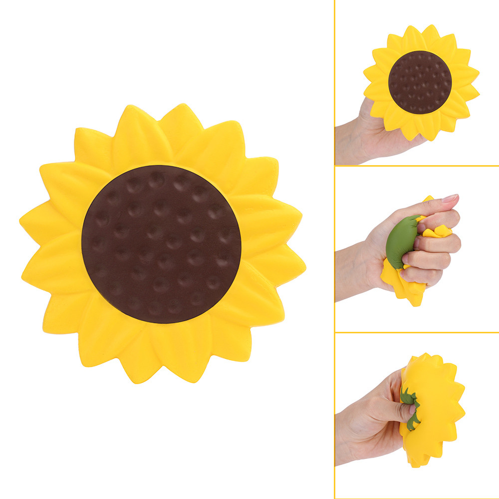 Sunflower Scented Toys Antistress Funny Kids Toy Charm Slow Rising Squeeze Stress Reliever Collection Toys Fun  Gift L0115