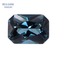 London Blue Topaz Natural Loose Gemstone Octangle Shape Facetted Cut Size 0*14mm 1pcs For DIY Jewelry