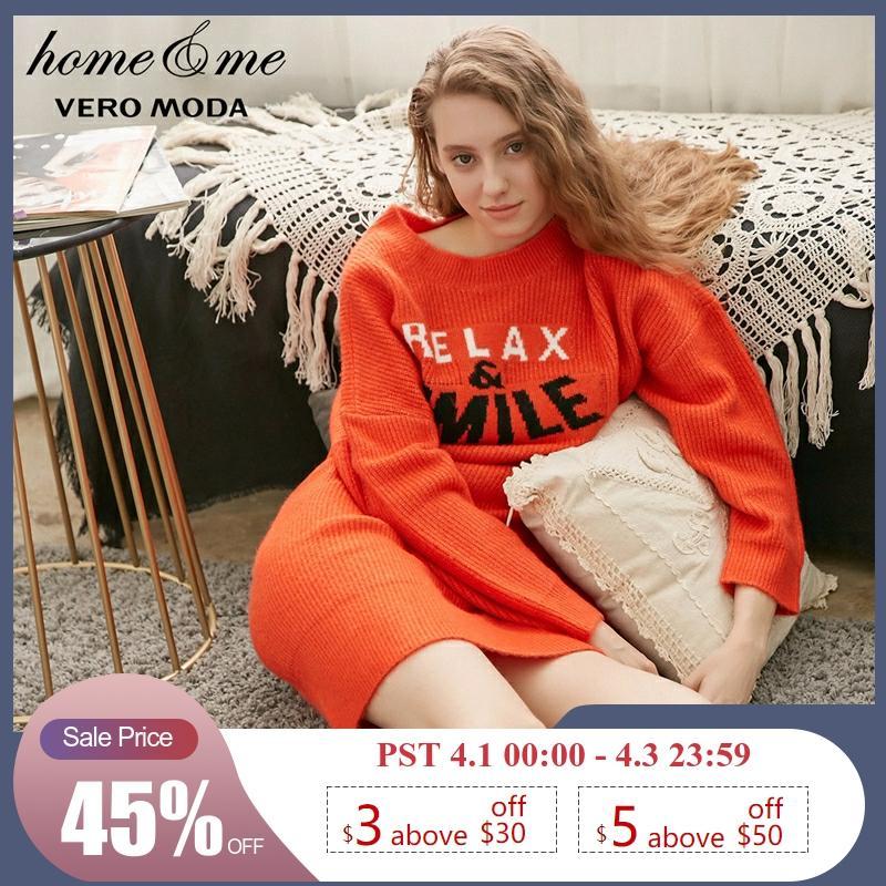 Vero Moda New Drop-shoulder Long-sleeved Casul Knit Dress | 318346541