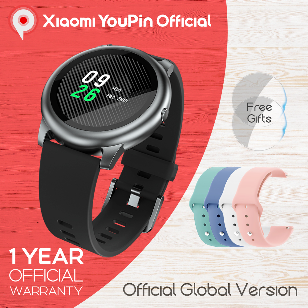 YouPin Haylou Solar LS05 Sport Watch Heart Sleep Monitor Battery Android iOS Metal Round Display IP68 Waterproof iphone metal