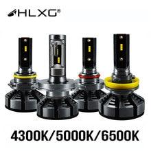 HLXG 6500K 4300K 5000K H7 Led H4 ile ZES cips araba far ampulü H1 LED H11 H8 HB3 9005 HB4 9006 lamba 12V luces led para otomatik