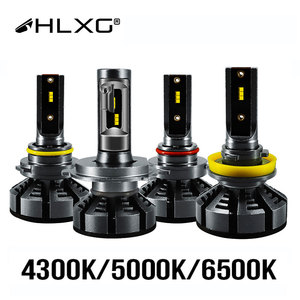 Image 1 - HLXG 6500K 4300K 5000K H7 Led H4 ile ZES cips araba far ampulü H1 LED H11 H8 HB3 9005 HB4 9006 lamba 12V luces led para otomatik