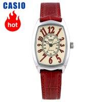 Relogio masculinocasio montre petite montre rouge ceinture 쿼츠 쁘띠 몬트 카레에 LTP-1208E-9B2