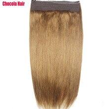 """Chocala волосы 1""""-28"""" Искусственные волосы одинаковой направленности венчик для волос волосы флип в волосах 140 г бразильские натуральные один кусок набор человеческих волос для наращивания"""