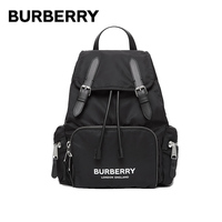 BURBERRY Medium Rucksack Military Backpacks Logo Printing Zipped Pockets Buckle Canvas Leather Shoulder Bags For Women 80212611