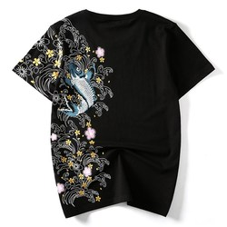 Plus Size Chinese Style T Shirt Short Embroidery Loose Tops Tee Cotton Female Print T-Shirts