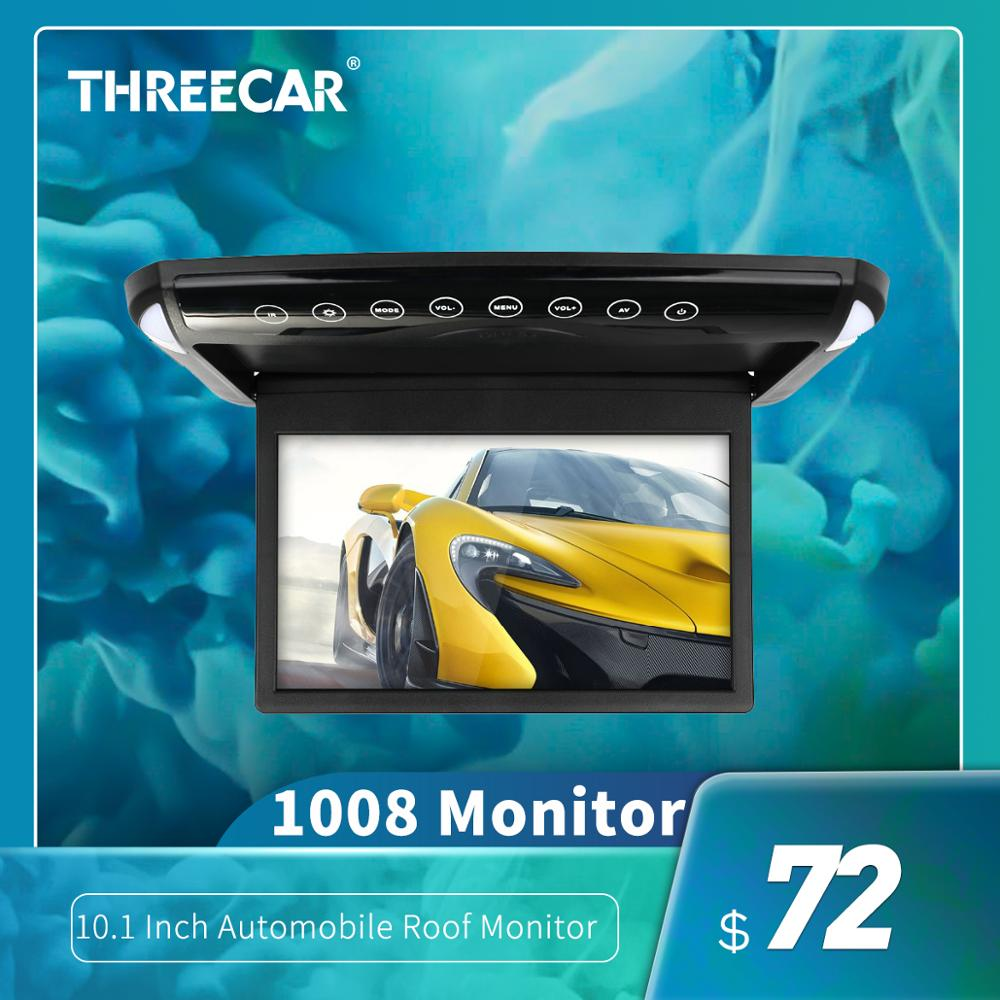 Ultra Thin 10 1 inch Car Monitor Roof Ceiling Mount Flip Down TFT LCD Monitor  DVD Player USB SD MP5 Speaker Game