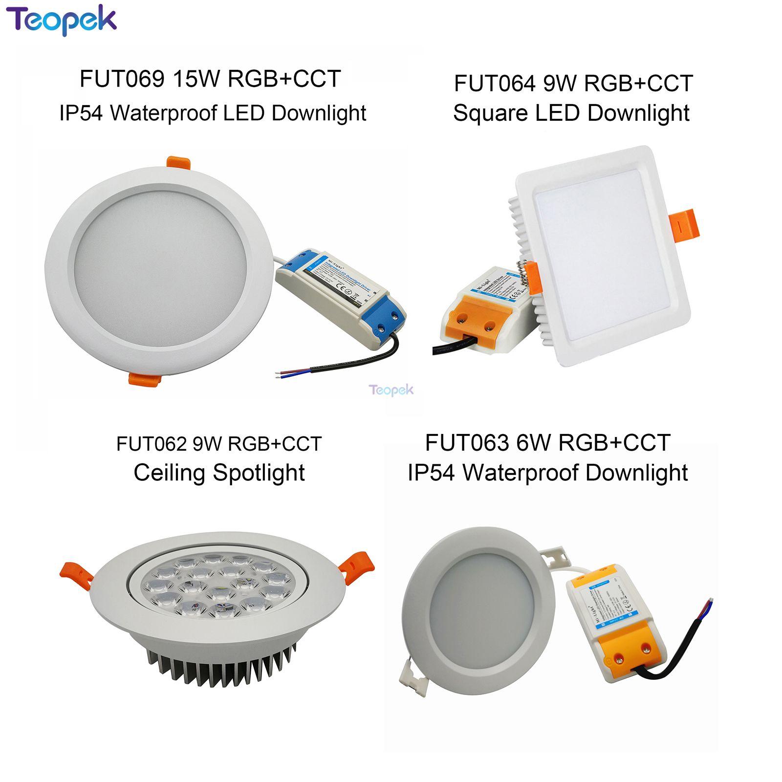 MiBoxer 6W 9W 12W 15W 18W 25W RGB+CCT led Downlight Dimmable Ceiling AC110V 220V FUT062/FUT063/FUT066/FUT068/FUT069 Wifi control