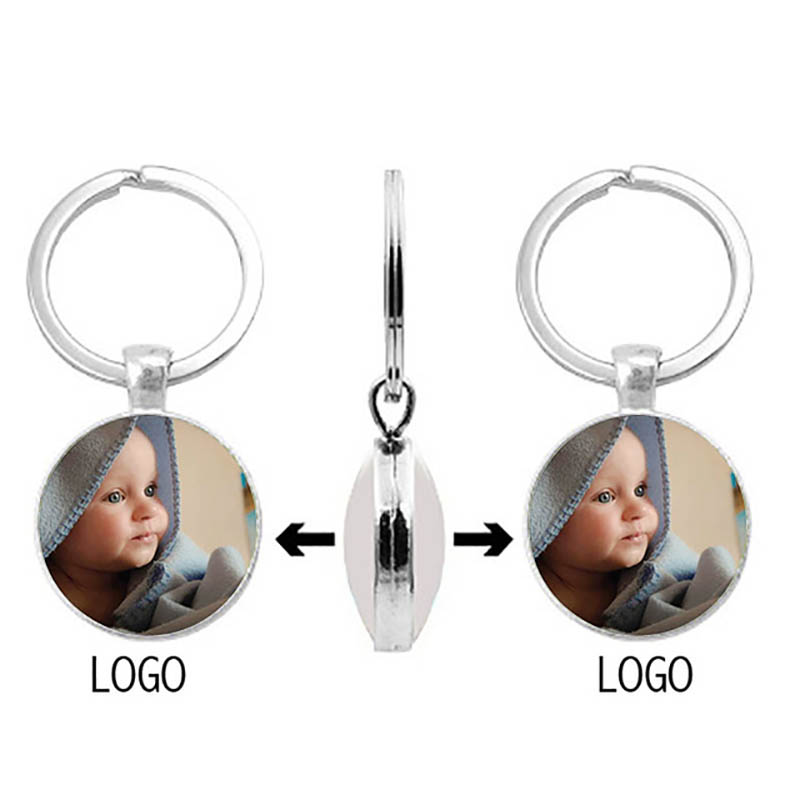 Double-Sided Personalized Photo Pendant Baby'S Custom Keychain Photo Mom Dad Grandparents' Parents Love A Gift For Family Member