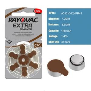 Image 3 - Hearing Aid Batteries 60 PCS/1 box RAYOVAC EXTRA A312/312/PR41 Zinc Air batterie 1.45V   Size 312 Diameter 7.9mm Thickness 3.6mm