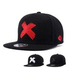 цена на X Letter Embroidery Baseball Cap Solid  Men and Women Fashion Sunhat High Quality HipHop Rap Hip Hop Basketball Cap