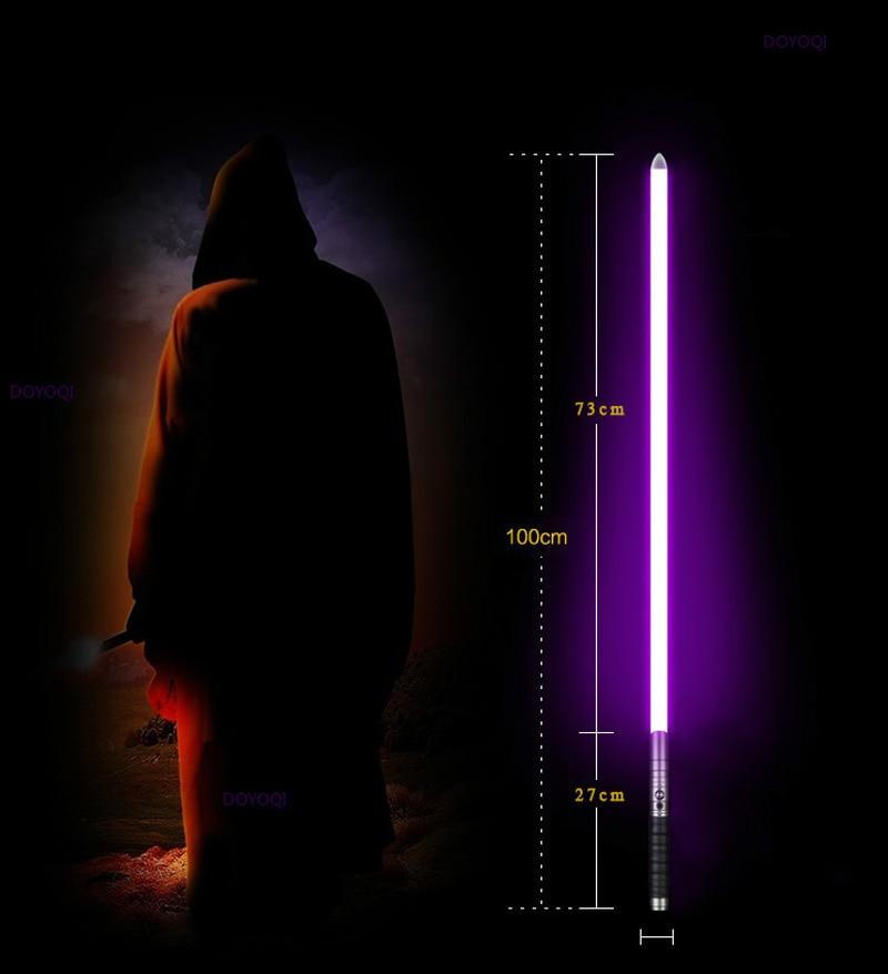 cm) comprimento rgb led sabre espada presente jogo adulto d106