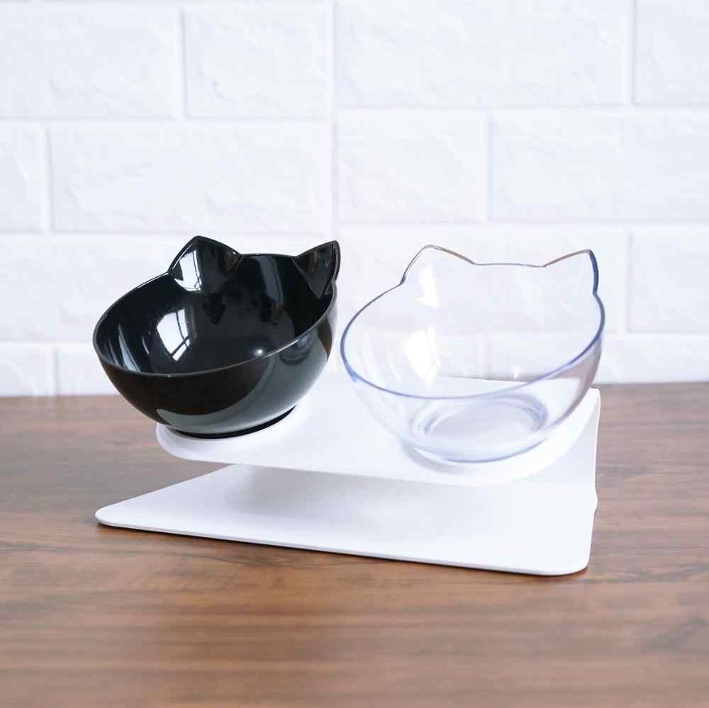 스탠드 애완 동물 강아지와 함께 두 번 고양이 그릇은 고양이를위한 고양이 물 그릇에 대한 비 슬립 고양이 음식 그릇을 제기 애완 동물을위한 피더 Dropshipping