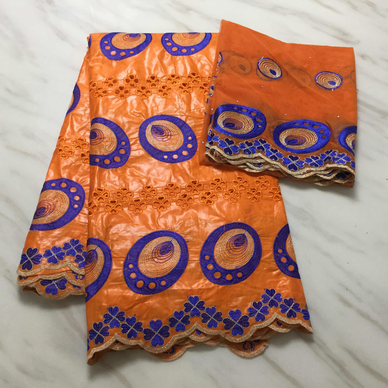 แอฟริกัน Bazin Riche Getzner มาใหม่สีแดง Bazin Riche ผ้าหิน brode Bazin สำหรับสตรี FP-1120
