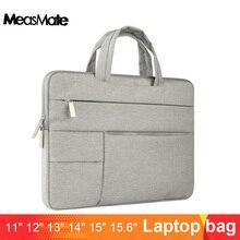 Saco de manga portátil para macbook ar 13 caso de náilon portátil caso 15.6 11 14 15 polegada sacos para mulheres masculinas zíper unisex mochila