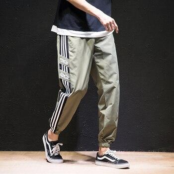 2020 New Hip Hop Joggers Cargo Pants Men Harem Pants Multi-Pocket Ribbons Man Sweatpants Streetwear Casual Mens Pants S-6XL - XXXL, 2002green